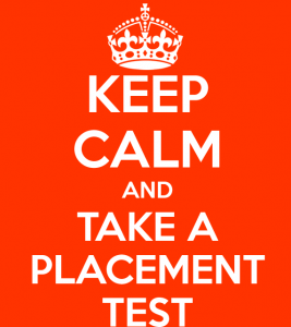 keep calm and placement test